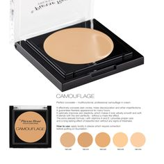 Camouflage  Perfect concealer – multifunctional, professional camouflage in cream. It effectively conceals dark circles, hides discolouration and other imperfections. It guarantees flawless appearance for many hours. It optimally improves skin elasticity, which makes it look velvety smooth and soft. It blends with the skin perfectly - without a mask-like effect. The extra delicate formula (with vitamins A and E) provides proper care and a long-lasting effect of beautiful skin without any…