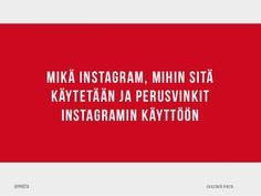 Opas Instagramin käyttöön