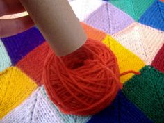 How to make a centre-pull ball of yarn with a toilet paper roll 15 by laughingpurplegoldfish, via Flickr