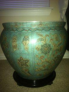 """big decorative bowl. 18-24"""" diameter, maybe 18"""" tall...ish"""