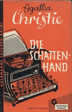 vintage German book cover: Agatha Christie - The Shadow Hand – 1960