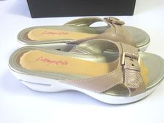 Cole Haan Women Shoes Air Tatum Slides Sandals Sz 7.5 B Medium w Nike Air Soles  #ColeHaan #SportSandals