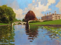 Clare Bridge and College from the River Cam by David Sawyer