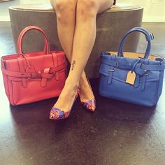 Which color Reed Krakoff Tote would you pair with these adorable J Crew pumps?? #socute #fashion #trendy #summerstyle #popofcolor #jcrewheels #jcrew #reedkrakoff #moshposhfinds #mymoshposh #designerconsignment