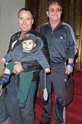 Sir Elton John, partner David Furnish and son Zachary