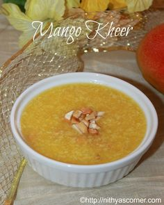 Mango kheer, mango payasam recipe. A delicious and mouth-watering dessert made with ripe mangoes.