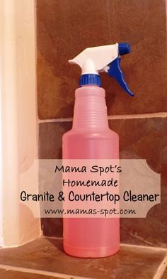 Check out how to make your own Granite & Countertop Cleaner! So awesome!
