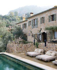 Stone villa in italy