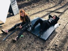 Image may contain: 2 people, people sitting, shoes and outdoor Isabelle Lightwood, Alec Lightwood, Girl Meets World Cast, Freeform Tv Shows, Constantin Film, Shadowhunters Season 3, Clary And Jace, Post Apocalyptic Fashion, Shadowhunters The Mortal Instruments
