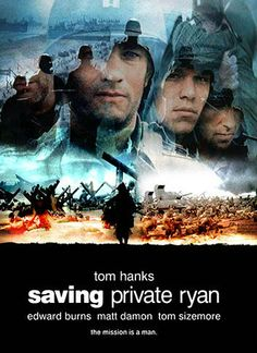 Tom Hanks, Matt Damon, Tom Sizemore, and Edward Burns in Saving Private Ryan Steven Spielberg Movies, Tom Sizemore, Saving Private Ryan, Movies Worth Watching, English Movies, Movies To Watch Online, Matt Damon, Tom Hanks, Action Movies