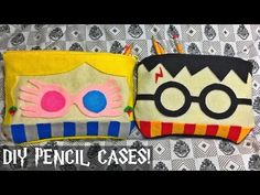 DIY Harry Potter and Luna Lovegood inspired pencil cases/bags (FELT FABRIC/NO SEW!) - YouTube