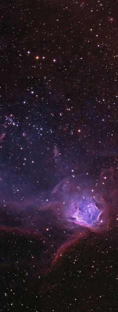NGC 602 in the Flying Lizard Nebula ~ Near the outskirts of the Small Magellanic Cloud, a satellite galaxy some 200 thousand light-years distant, lies 5 million year young star cluster NGC 602. Surrounded by natal gas and dust, the cluster itself is about 200 light-years in diameter.
