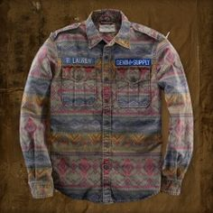 Denim & Supply Ralph Lauren Printed Sport Shirt in Green for Men Mens Flannel, Flannel Shirt, Mens Fashion Wear, Fashion Outfits, Fasion, Clothing Photography, Thrift Fashion, Denim And Supply, Cool Jackets