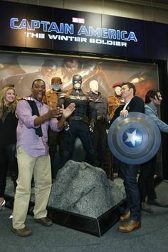 SDCC 2013 - Emily VanCamp, Anthony Mackie, Chris Evans and Sebastian Stan - Captain America: The Winter Soldier