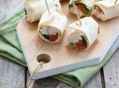 Wraps de crabe et roquefort à la coriandre