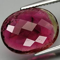 An ample sized watermelon tourmaline beauty tips the scale at almost 7 Carats. Large Pink and Green Watermelon Tourmaline Oval by SilverFound, $45.50