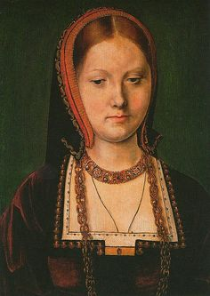 A portrait by Michel Sittow traditionally said to depict a young Katherine of Aragon. Katherine was the first wife of Henry VIII and had previously been married to his brother, Arthur, Prince of Wales until his premature death in 1502. Her first marriage became the subject of controversy when Henry wished to repudiate her. Despite several pregnancies, Katherine's only surviving child was a daughter Mary who became England's first crowned Queen Regnant.
