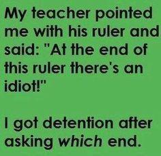 Teacher detention joke #funny