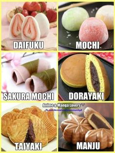 Japanese sweets I've tried Mochi, and Dorayaki 🥰 Japanese Pastries, Japanese Sweets, Japanese Deserts, Japanese Street Food, Japanese Candy, Japanese Food List, Japanese Wagashi, Japanese Recipes, Asian Desserts