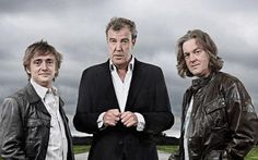 Richard Hammond, Jeremy Clarkson, James May. Quick, name that show! I'd be surprised if anyone knew. ;)
