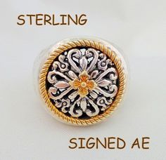 Ornate Signed STERLING SILVER Bali Design Ring Sz 6 1/2 – Encore Exchange