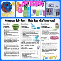Homemade baby food with Tupperware! www.michelleathome.com #Babyfood #Tupperwarehomemade