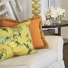 Design Ideas for Living & Dining Rooms | Colorful Throw Pillows | SouthernLiving.com