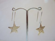 Hammered Silver Star Earrings £28.00