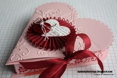 Stampin' Up! SU Tutorial for Valentine Heart Treat Box and Card, DeStampin'Corner
