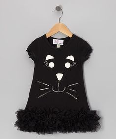 Look what I found on #zulily! Black Cat Ruffle Dress - Infant, Toddler & Girls by The Princess and the Prince #zulilyfinds