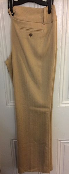 The Limited Cassidy Fit Flare Leg Womens Tan Dress Pants Career Size 10 | eBay