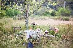 I seem to have an affinity for tables in woods or fields