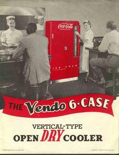 Vintage Coca-Cola Vendo 6-Case Cooler - promo advertising by Vendo Company, Kansas CIty