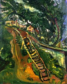 Landscape with Flight of Stairs  Chaim Soutine - circa 1922 ~Repinned Via John McIntosh