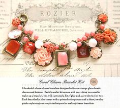 Coral charm bracelet kit by French General