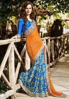 Latest Colorful Indian Sarees 2014