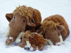 Mammuts im Schnee @Neandertal1, Foto: Neanderthal Museum