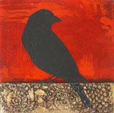 Parnell Gallery artist Anna Stichbury Blackbird http://www.parnellgallery.co.nz/artworks/artist-anna-stichbury/blackbird/
