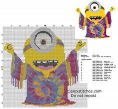 Cross stitch pattern Minions 2015 New York 1960 Minion
