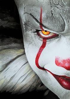 Pennywise the Dancing Clo - Art Decora La Maison Clown Horror Movie, Arte Horror, Horror Art, Es Stephen King, Stephen King Books, Clown Pennywise, Pennywise The Dancing Clown, Tim Curry, Evil Clowns