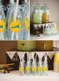 Vintage Airplane Party - lots of cute other ideas