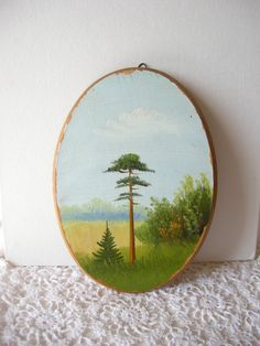 Items similar to Autumn pine tree wooden picture forest wall handing wood art Natural wall decor Woodland wall art Painting Trees wood decor rustic decor on Etsy