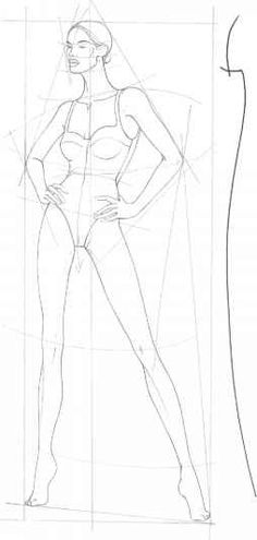 Drawing Fashion Body Structures