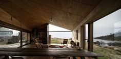 World Architecture Festival here's a slideshow of the winner in the villa category at the World Architecture Festival, which is a house on a working sheep farm on North Bruny Island, Tasmania, by John Wardle Architects. World Architecture Festival, Architecture Awards, Interior Architecture, Interior And Exterior, Architecture Images, John Wardle, Bruny Island, Modern Farmer, Sheep Farm
