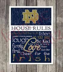 Notre Dame Fighting Irish Etsy home decor sign