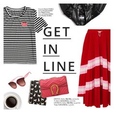 """""""Get in line"""" by punnky ❤ liked on Polyvore featuring Valentino, Tri-coastal Design, Balenciaga, Lipsy, Haute Hippie, stripesonstripes and PatternChallenge"""