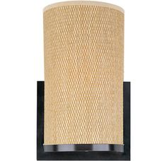 View the ET2 E95184-101 Traditional / Classic 1 Light Wall Sconce with Grass Cloth Shade from the Elements Collection at Build.com.