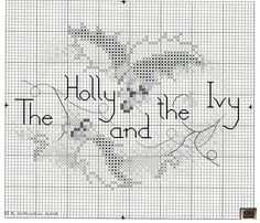 Holly and Ivy • 3/3 Chart for Large Card or other Christmas Project