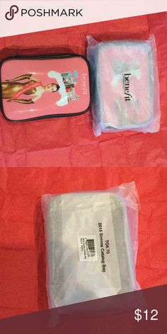 New Benefit cosmetics bag New Benefit cosmetic bag. 7 inches x 5inches x 2 inches. NWT benefit Bags Cosmetic Bags & Cases