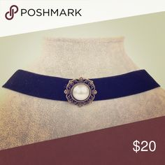 Victorian Style Velvet Coker With Pearl Detail Beautiful and classic, this black velvet Choker with Pearl and Rhinestone Details is the perfect accessory for fall!!! Can be dressed up or down!! Pair with your favorite casual look, or, your favorite night on the town attire to add instant polish to any style !!! All jewelry comes in protective dust bag with a unique handmade one of a kind storage box!!! Makes a great gift!!! Color ME Crazy Boutique  Jewelry Necklaces